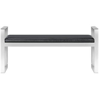 Angelo Black Upholstered Bench