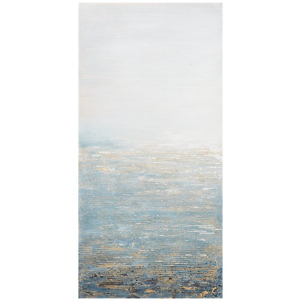 City Furniture: Apex Light Blue Framed Canvas
