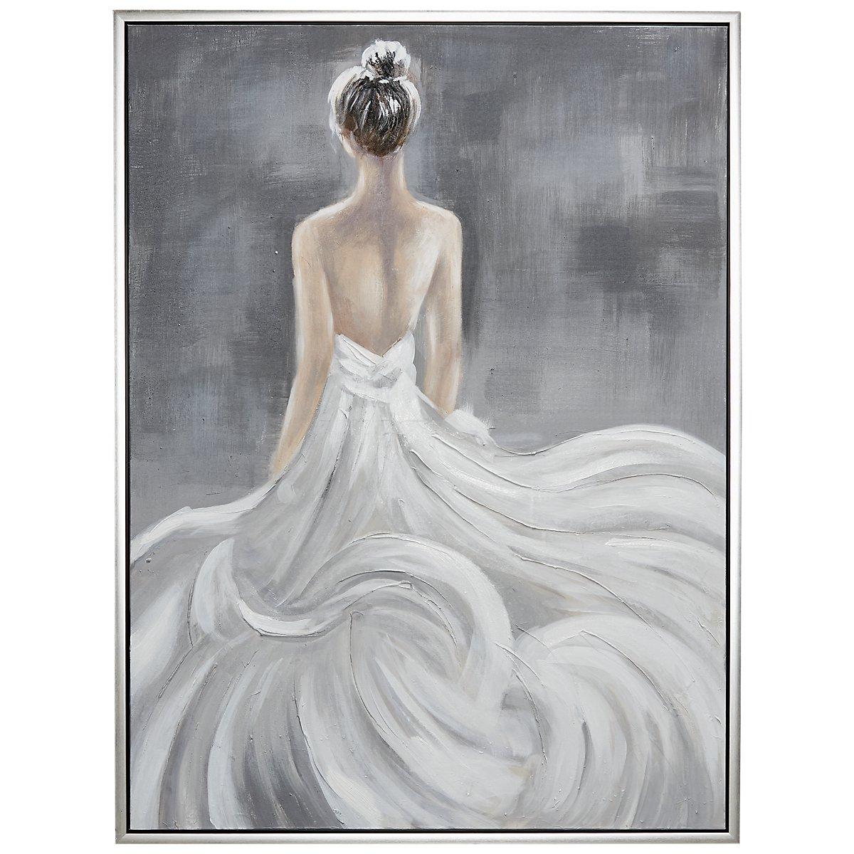 City Furniture: Belle White Framed Canvas