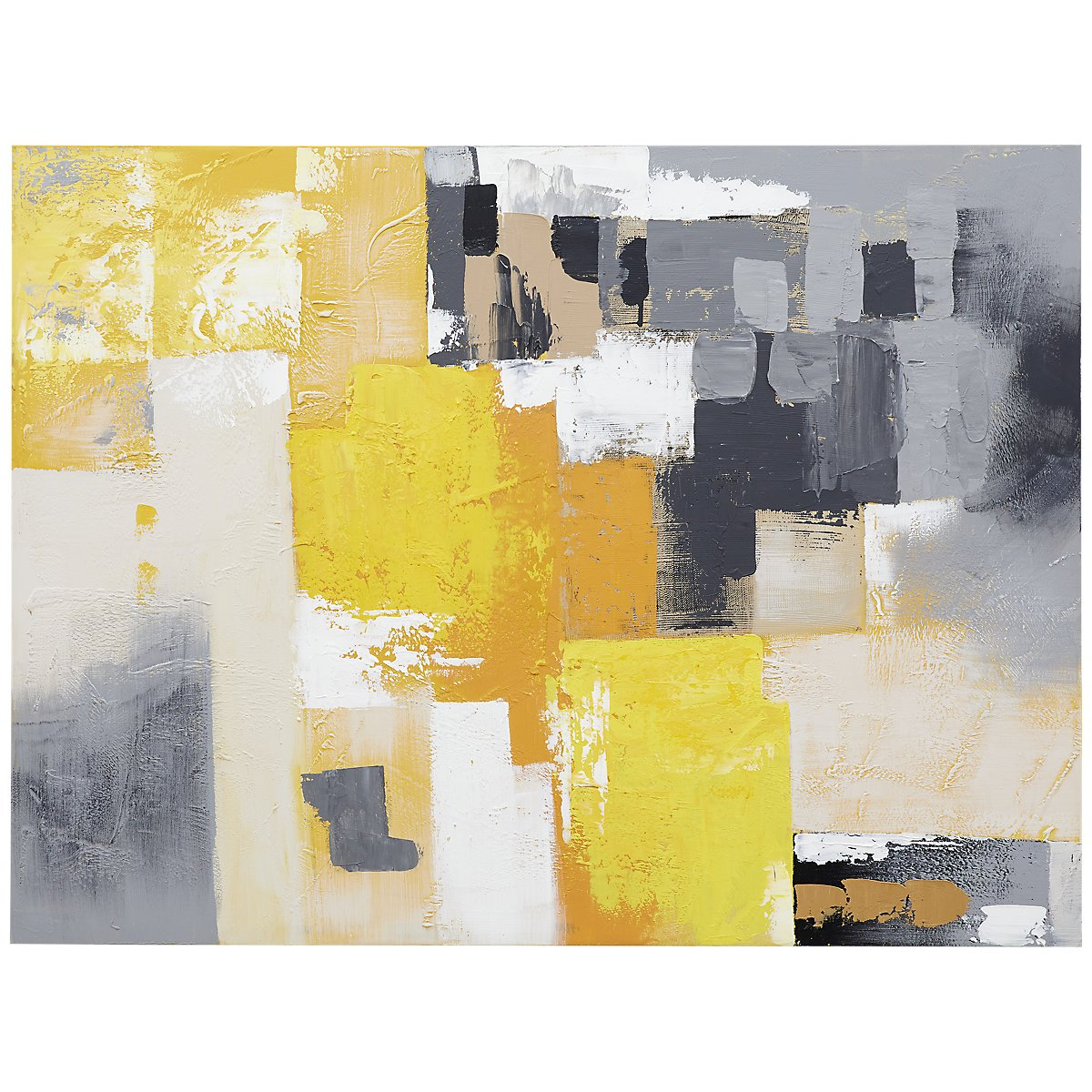 City Furniture: Saffron Yellow Canvas Wall Art