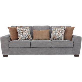 Pompeii Light Gray Fabric Sofa
