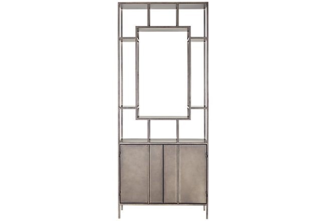 Mieres Gray Metal Bookcase