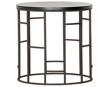 Velika Black Small Round End Table