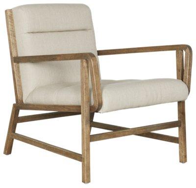 Praia White Microfiber Accent Chair
