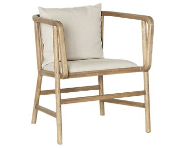 Frisch Taupe Fabric Accent Chair