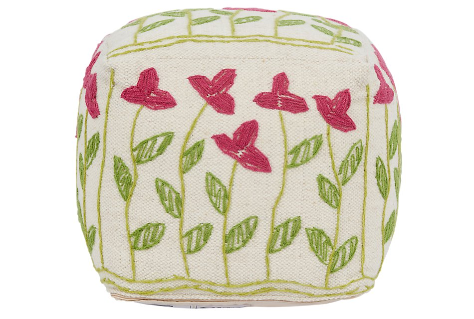 Weisse Multicolored   Accent Pouf