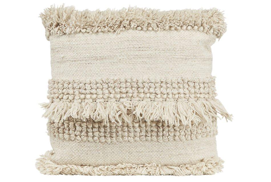 Beanton White  Accent Pillow