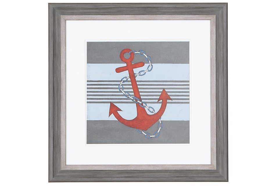 Anchor Red  Framed Wall Art