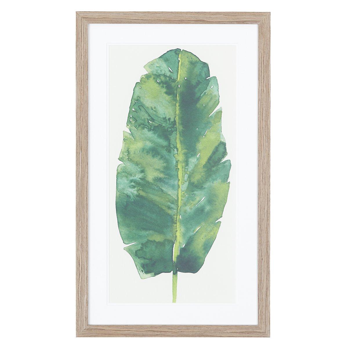 Leaf Green Framed Wall Art
