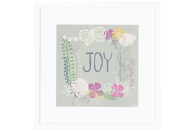 Joy Multicolored Framed Wall Art
