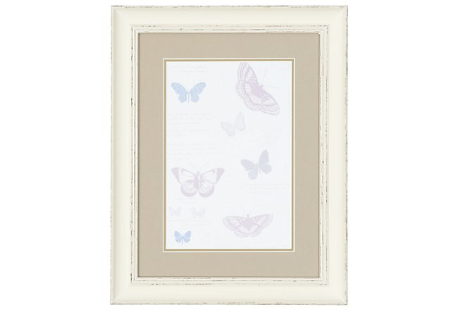 Butterfly Multicolored Framed Wall Art