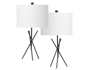 Tripod Metal Set Of 2 Table Lamp