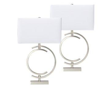 Circle Metal Set Of 2 Table Lamp