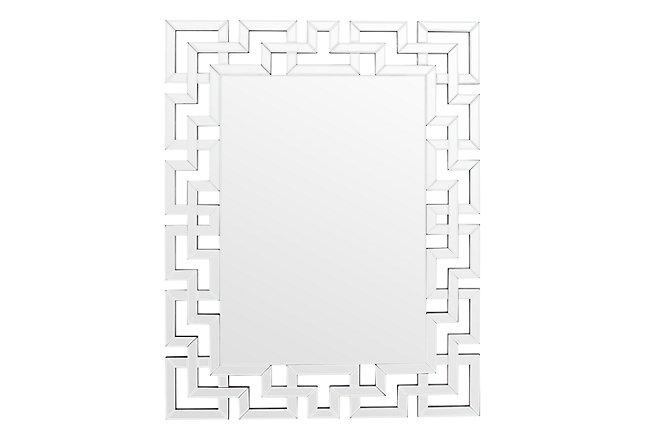 Cameo Silver Mirrored Mirror