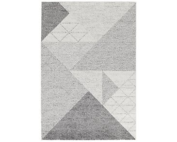 Geo Light Gray 5X8 Area Rug