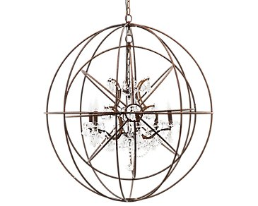 Sphere Metal Round Chandelier