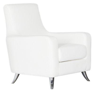 Marquez White Microfiber Accent Chair
