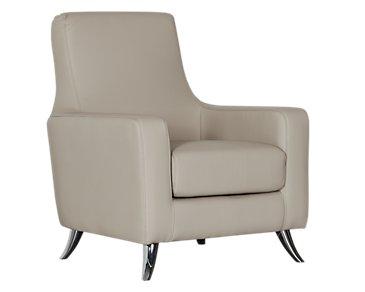 Marquez Gray Microfiber Accent Chair