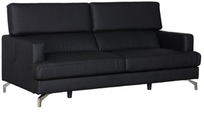 Marquez Black Microfiber Sofa. VIEW LARGER