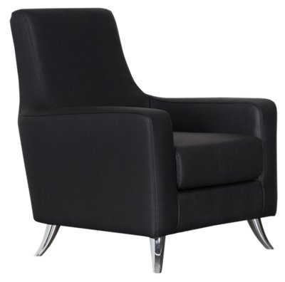 Marquez Black Microfiber Accent Chair