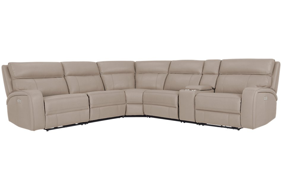 Rhett TAUPE MICRO Small Two-Arm Power Reclining Sectional