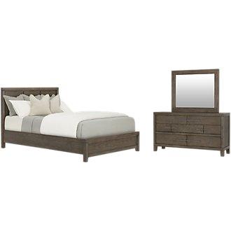 Bravo Dark Tone Wood Platform Bedroom