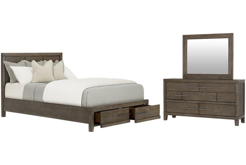 Bravo DARK TONE WOOD Platform Storage Bedroom | Bedroom ...