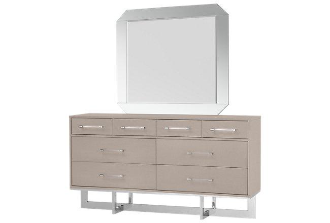 Cortina Champagne Dresser & Mirror