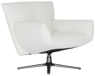 Camden White Microfiber Swivel Accent Chair  sc 1 st  City Furniture | Semi-Annual Sale & City Furniture: Camden White Microfiber Swivel Accent Chair