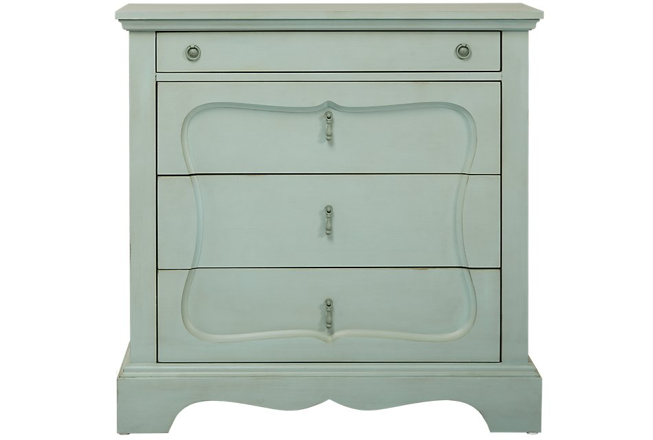 Silhouette Blue  Drawer Chest