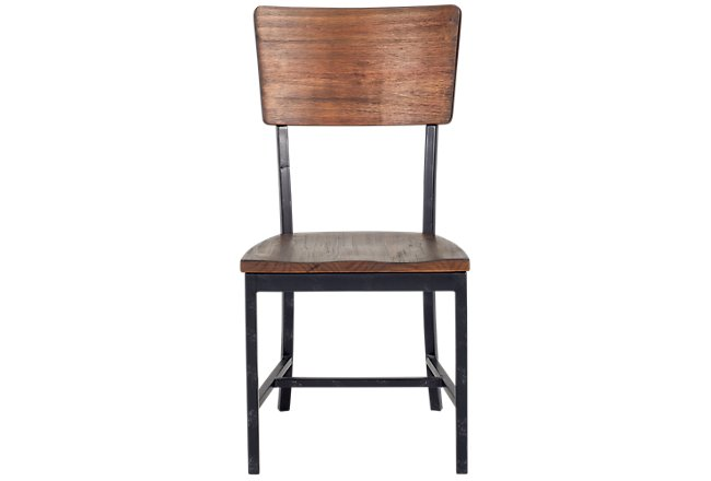 Contour Medium Brown Wood Desk Chair
