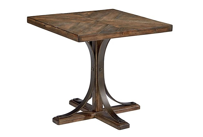 Iron Trestle Mid Tone Wood End Table