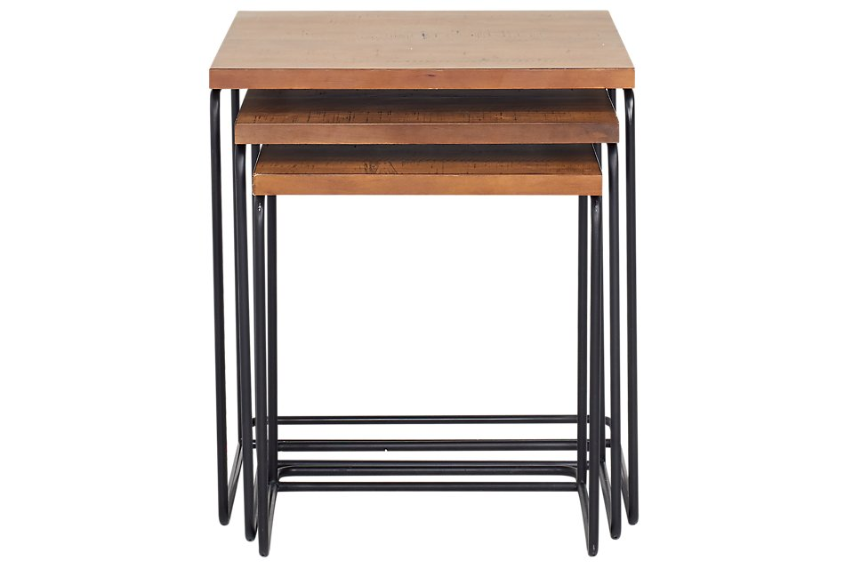 Traverse Light Tone Set Of 3 Nesting Tables | Living Room ...
