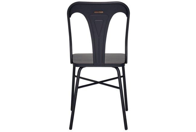 Gaven Black Metal Desk Chair