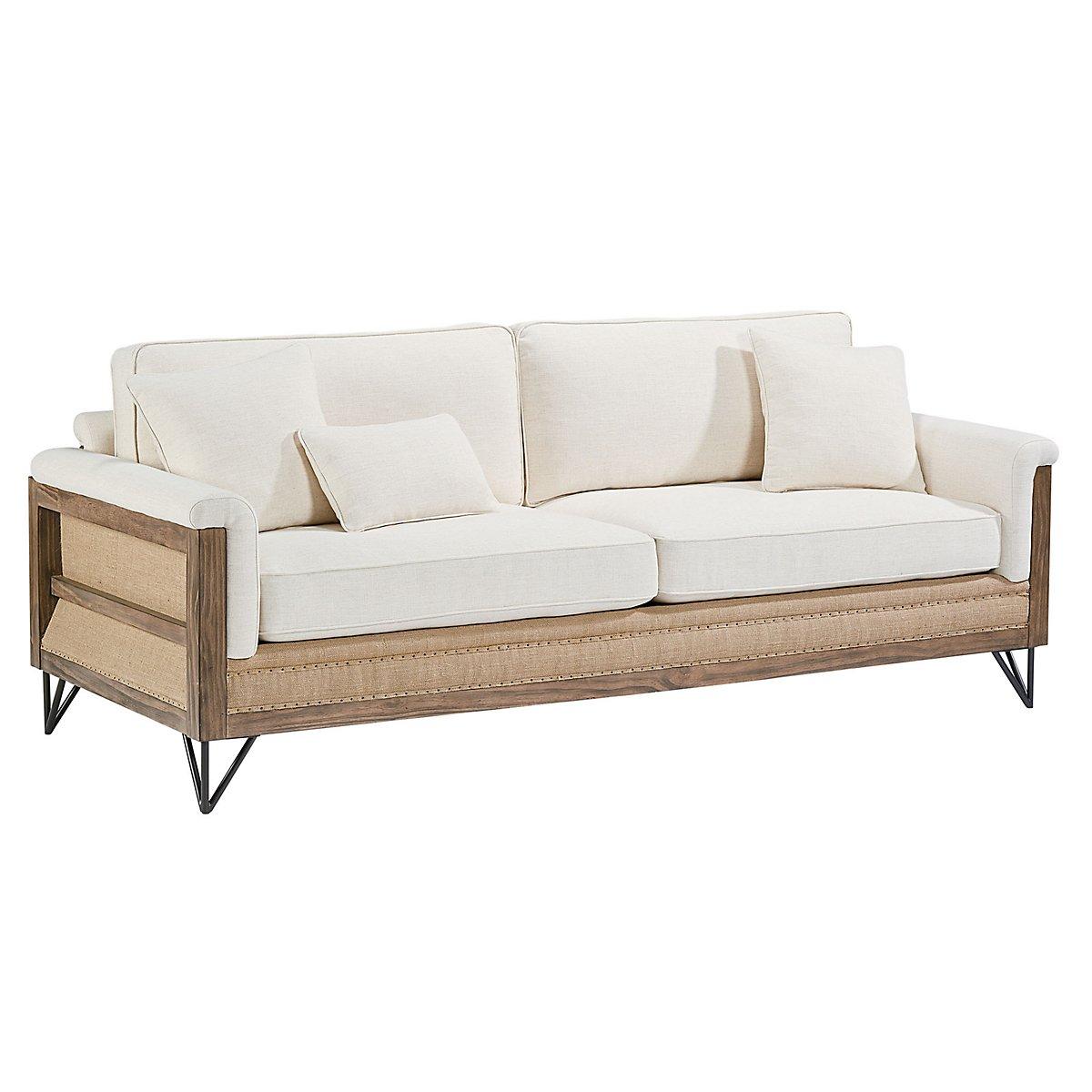 Paradigm Ivory Fabric Sofa