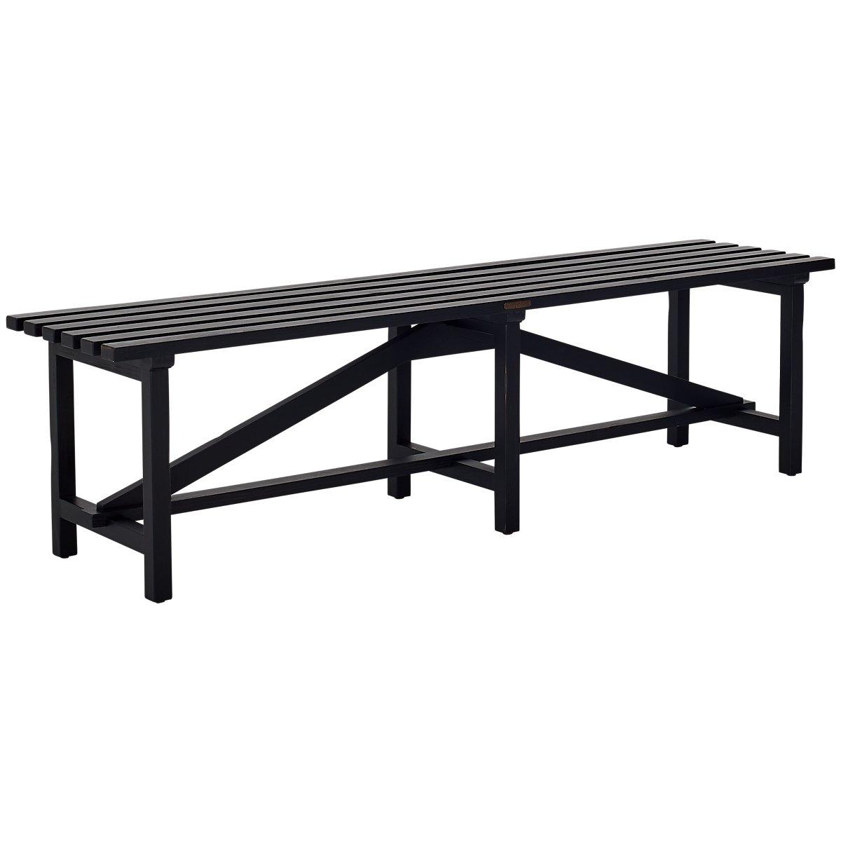 Open Slat Black Bench Bedroom Benches City Furniture