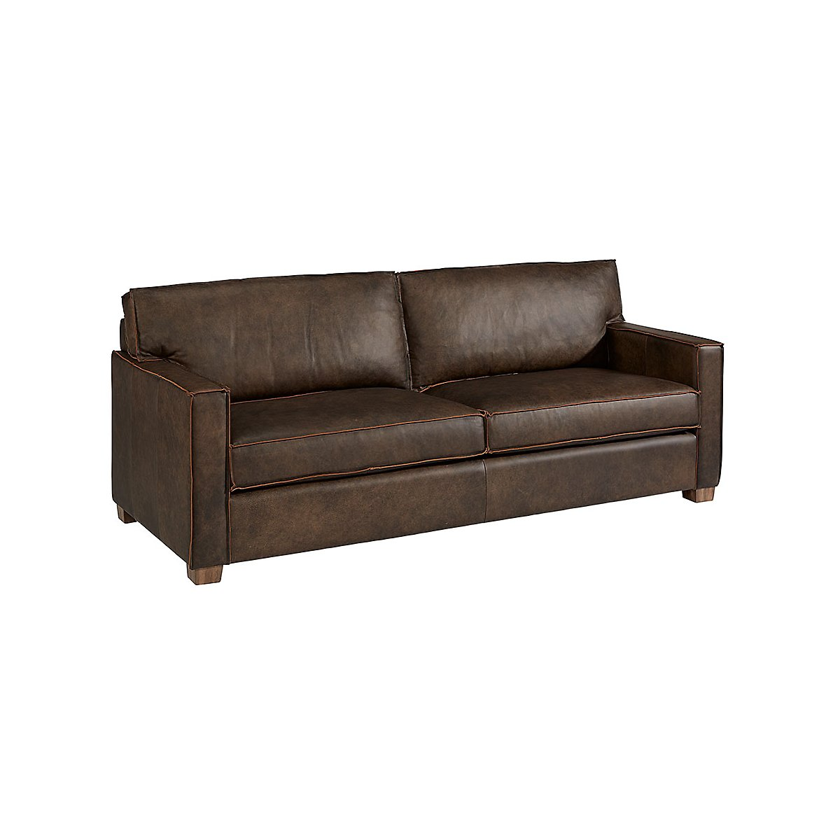 Ravel Dark Brown Leather Sofa