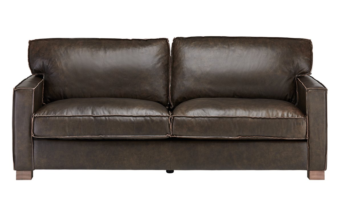 Ravel Dark Brown Leather Sofa