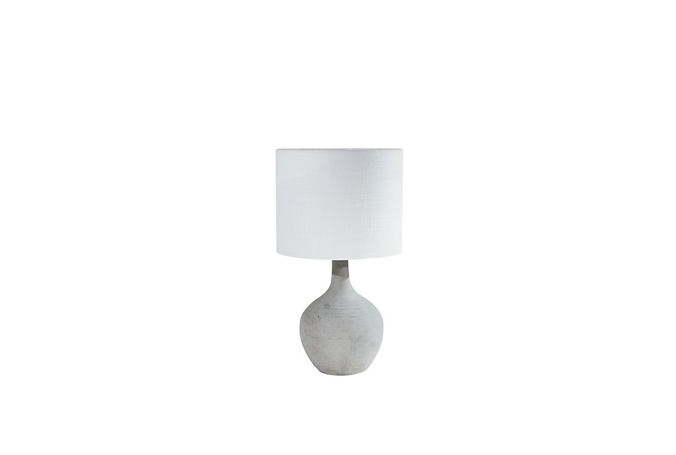 Ashby Cement Small Table Lamp