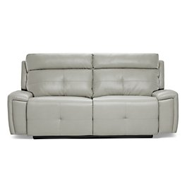 Chandler Light Gray Microfiber Reclining Sofa