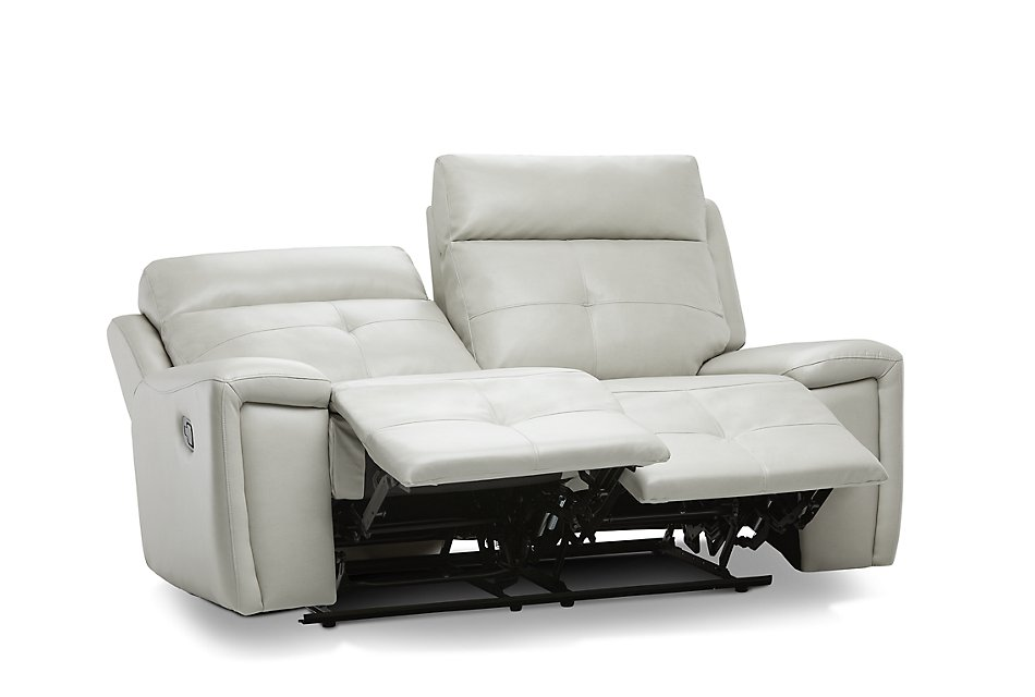 Strange Chandler Light Gray Micro Reclining Loveseat Living Room Gmtry Best Dining Table And Chair Ideas Images Gmtryco