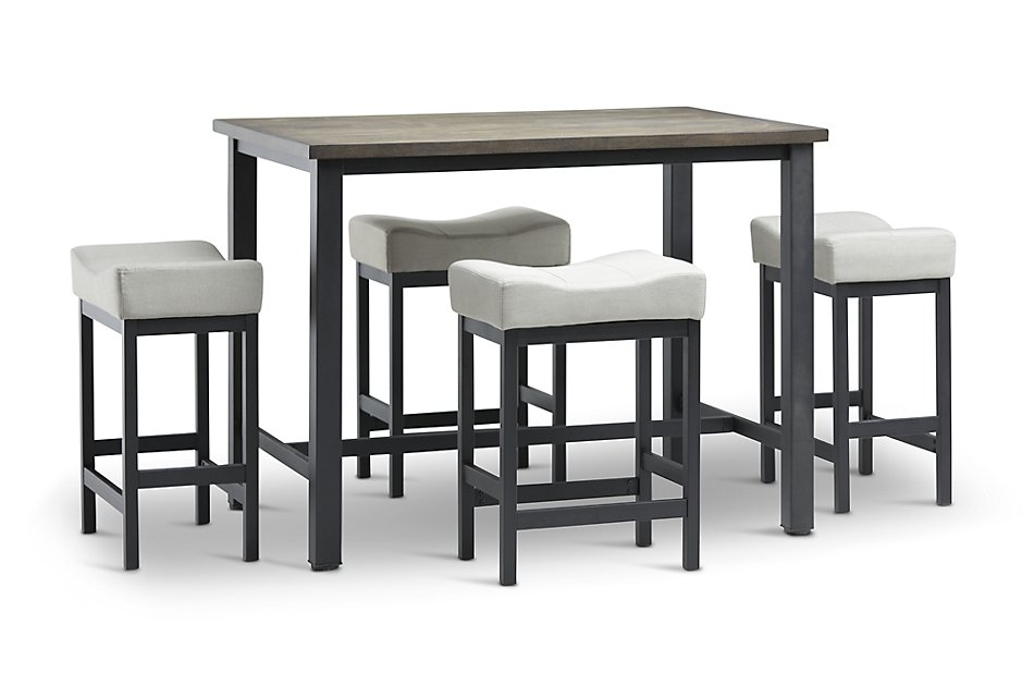 Roland Light Tone High Table 4 Stools Dining Room