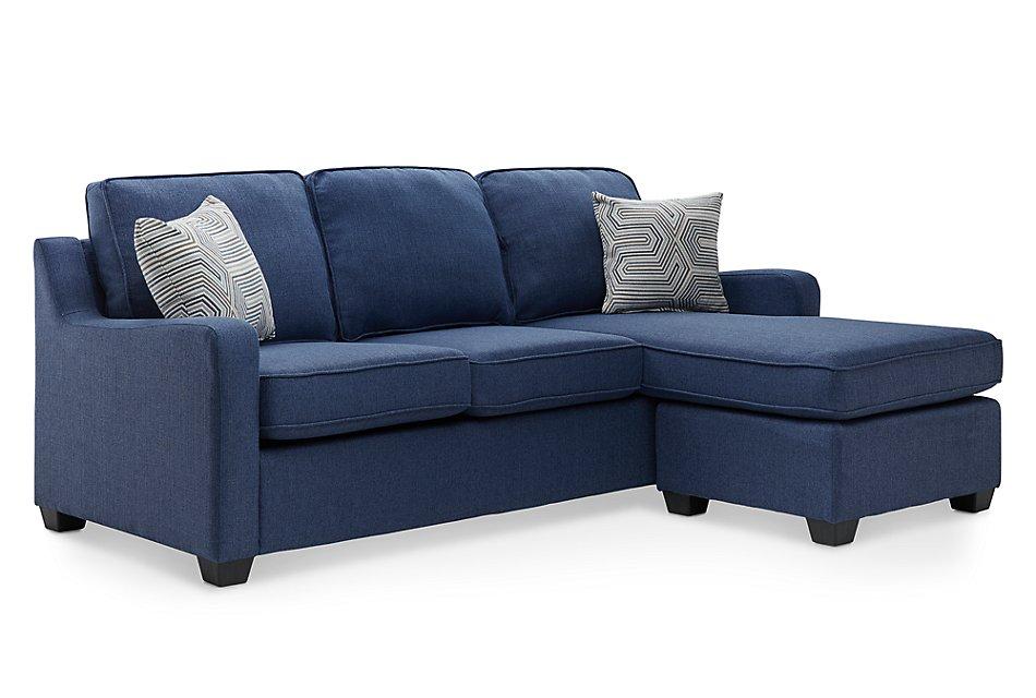 Stupendous Delaware Blue Fabric Right Chaise Sect Living Room Creativecarmelina Interior Chair Design Creativecarmelinacom
