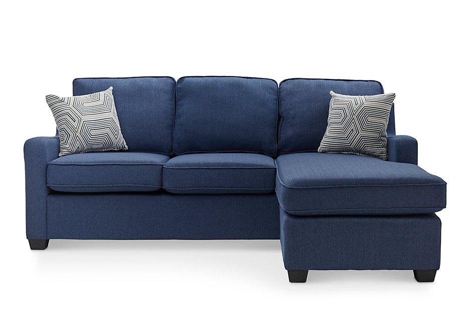 Fine Delaware Blue Fabric Right Chaise Sect Living Room Creativecarmelina Interior Chair Design Creativecarmelinacom