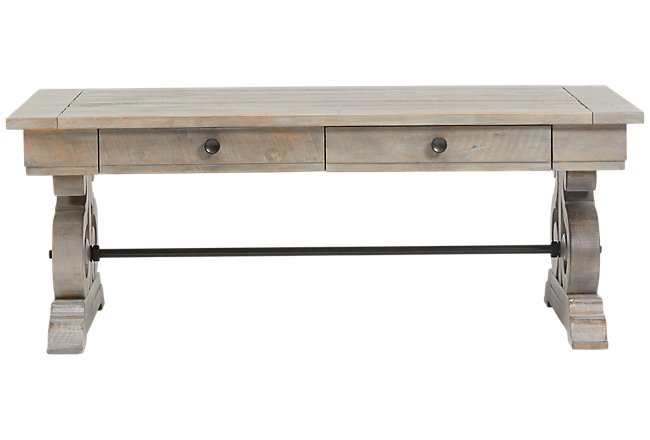 Sonoma Light Tone Wood Rectangular Coffee Table