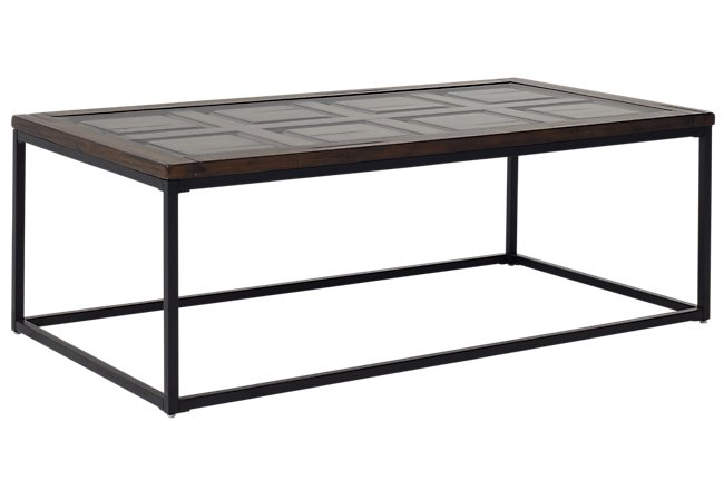 Rochester Dark Tone Metal Rectangular Coffee Table
