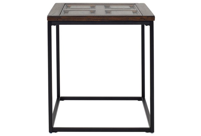 Rochester Dark Tone Metal Rectangular End Table