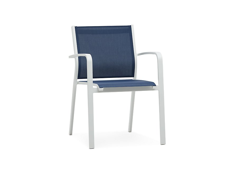 Fantastic Lisbon Navy Sling Chair Outdoor Dining Chairs City Cjindustries Chair Design For Home Cjindustriesco
