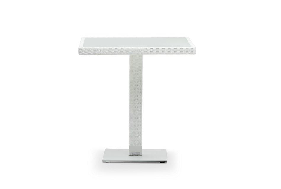 """Lisbon2 White 27"""" Square Table"""