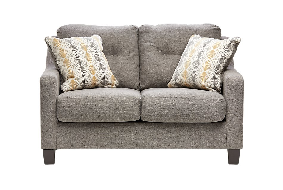 Daylon Light Gray  Micro Loveseat